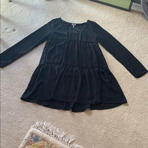 Tobi long sleeve black flowy dress. Size: S